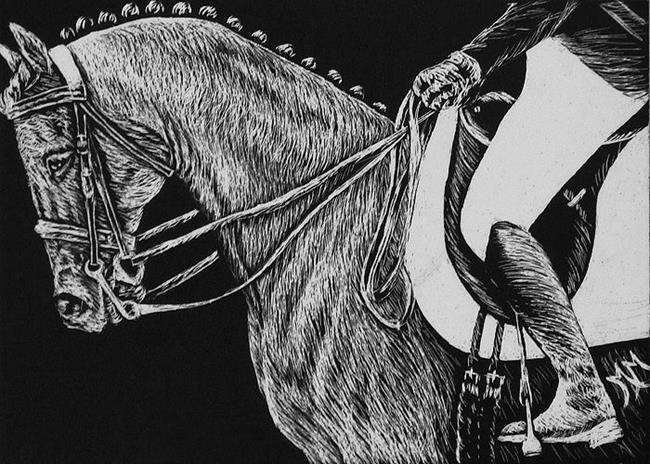 Art: Dressage Horse  (SOLD) by Artist Monique Morin Matson