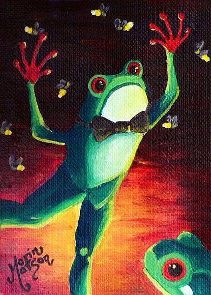 Art: Wooing  (SOLD) by Artist Monique Morin Matson