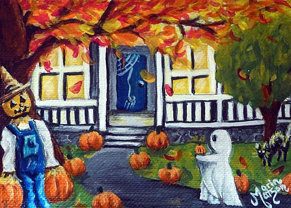 Art: Ghostly Visitor (SOLD) by Artist Monique Morin Matson