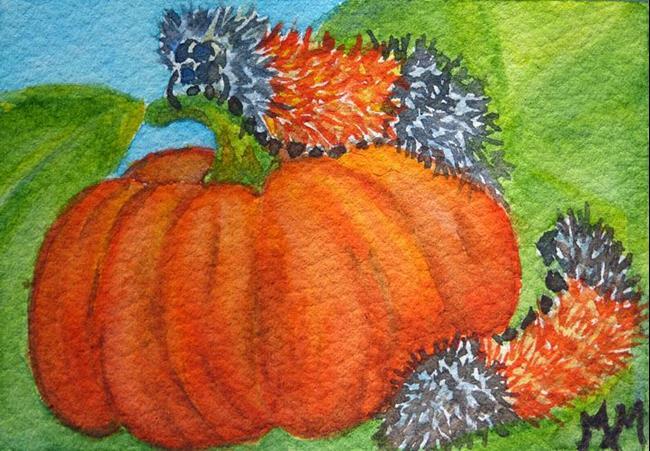 Art: Woolly Bears (SOLD) by Artist Monique Morin Matson