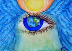 Art: Watching Over Gaia  (SOLD) by Artist Monique Morin Matson