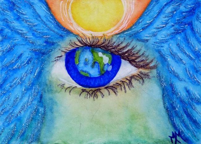Art: Watching Over Gaia  (SOLD) by Artist Monique Morin Matson
