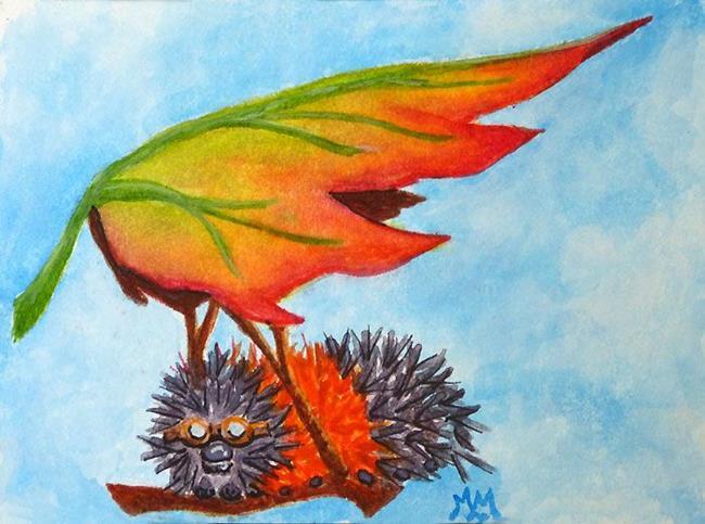 Art: Preparing For Wings (SOLD) by Artist Monique Morin Matson