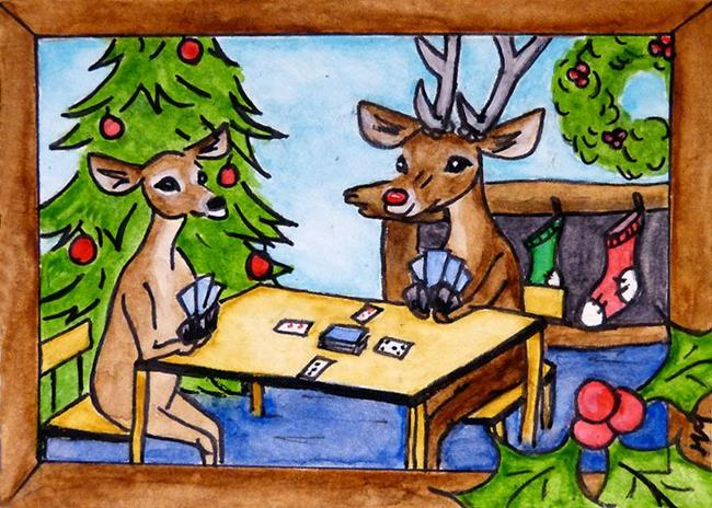 Art: Saturday at Rudolph's  (SOLD) by Artist Monique Morin Matson