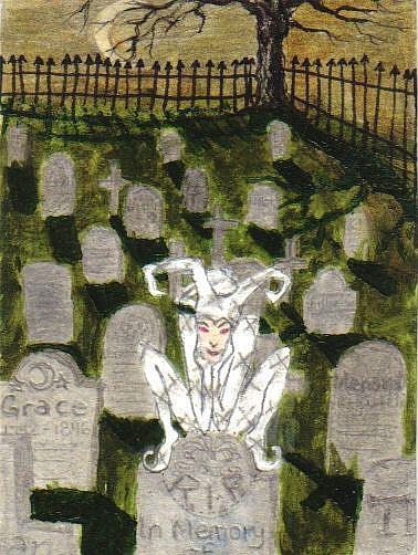 Art: Ghostly Laughter #5 in Joker series by Artist Emily J White