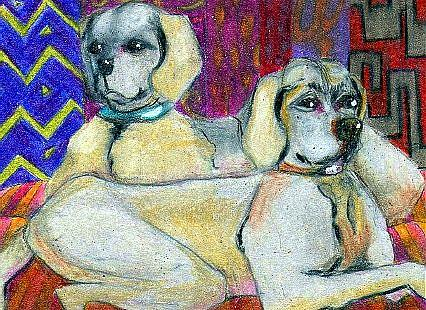 Art: Watch Dogs Watching by Artist Judith A Brody