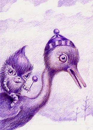 Art: Monkey On My Back by Artist Vicky Knowles