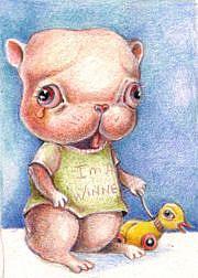 Art: Hamstey is a WINNER by Artist Vicky Knowles