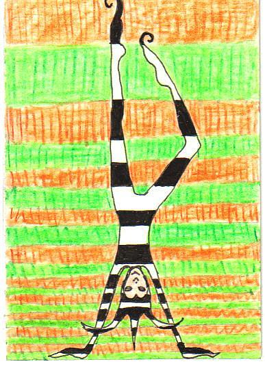 Art: Handstand #2 in Joker series by Artist Emily J White