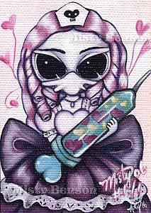 Art: Hypodermic of Love - ACEO by Artist Misty Monster (Benson)