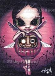 Art: Love Daruma Faery - ACEO by Artist Misty Benson