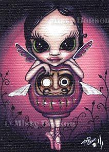 Art: Love Daruma Faery - ACEO by Artist Misty Monster (Benson)