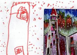 Art: Molly & the Snow Princess by Artist Judith A Brody