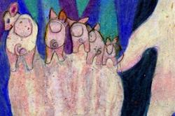 Art: This Little Piggy Went to Market by Artist Judith A Brody