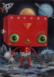 Art: Baby Robey  by Artist Vicky Knowles