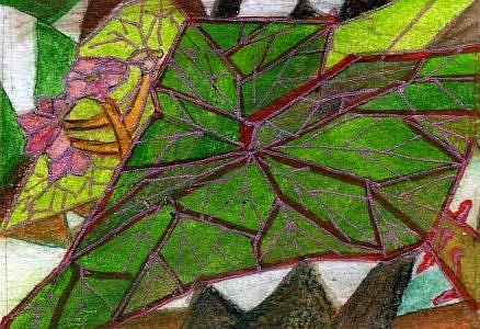 Art: Rex Begonia by Artist Judith A Brody