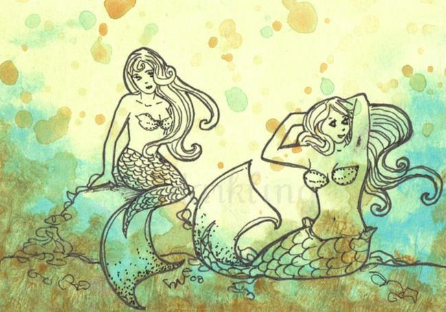 Art: Sweet Sisters by Artist Emily J White