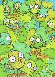 Art: Bird Bush by Artist Emily J White