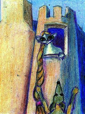 Art: Rapunzel by Artist Judith A Brody