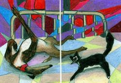 Art: Strange Bedfellows by Artist Judith A Brody