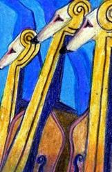 Art: Rhapsody in Blue with Greyhounds by Artist Judith A Brody