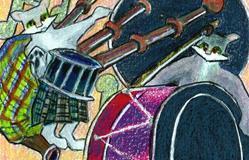 Art: Scintillating Scottish Fling by Artist Judith A Brody