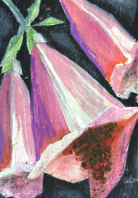 Art: Foxglove Cubed by Artist Judith A Brody