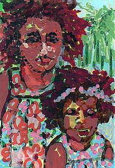 Art: Mother & Daughter by Artist Judith A Brody