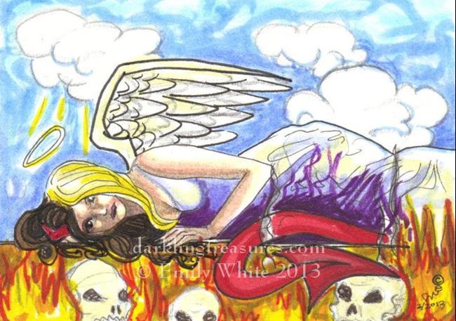 Art: Devil or Angel by Artist Emily J White