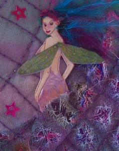Detail Image for art Quilt Fairy
