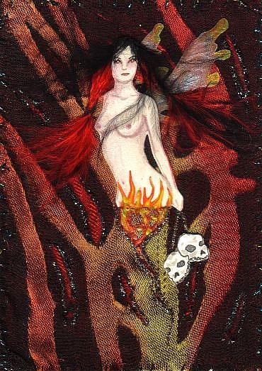 Art: Dark Flames by Artist Emily J White