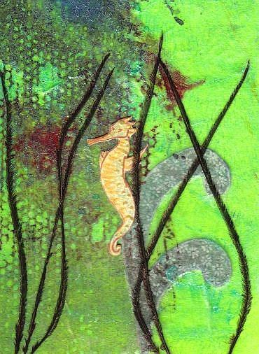 Art: Flight of the Seahorse by Artist Emily J White
