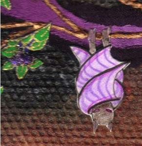 Detail Image for art Violet Winged Bat