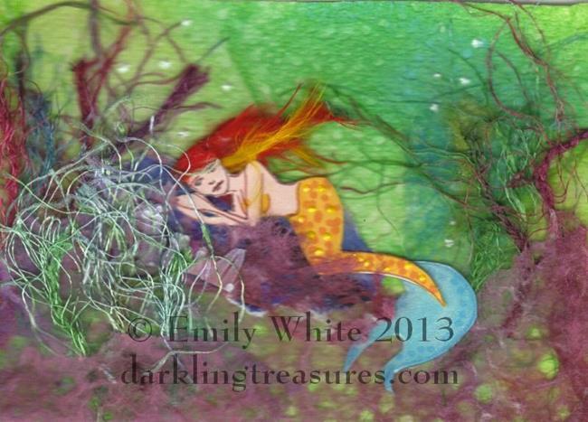 Art: Seaweed Snooze by Artist Emily J White