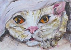 Art: Hiding Kitten by Artist Delilah Smith