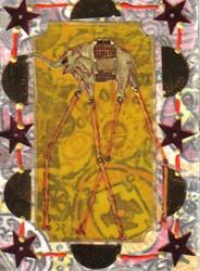 Art: Elephantitis #5 in Collage pt  1 by Artist Emily J White