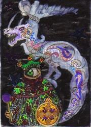 Art: Dragon Fever #2 in Collage pt 1  by Artist Emily J White