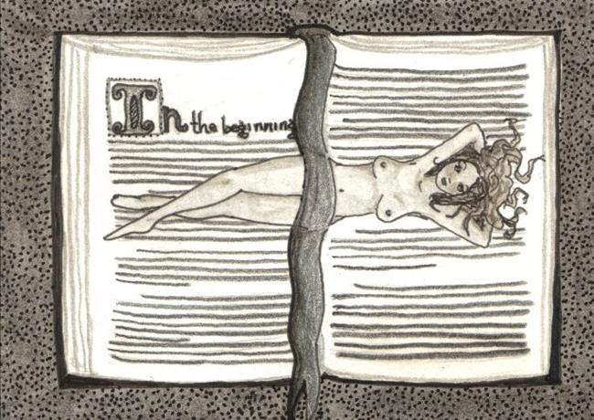 Art: Nude Study #4 by Artist Emily J White