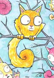 Art: Branch Cats by Artist Emily J White