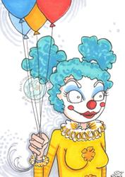 Art: Clown 1 by Artist Emily J White