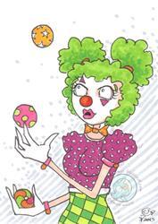 Art: Clown 2 by Artist Emily J White