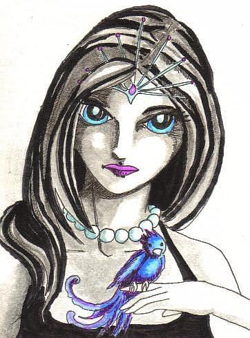 Art: Icy Eyes by Artist Emily J White