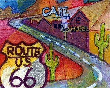 Art: Old Route 66 Ghost Towns by Artist Judith A Brody