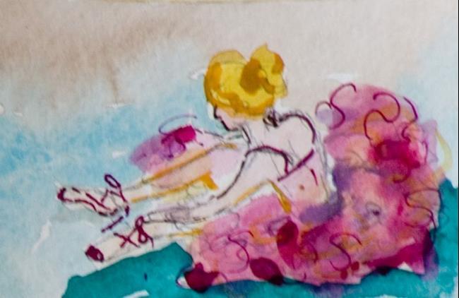 Art: Ballerina-sold by Artist Delilah Smith
