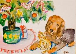 Art: Christmas Friends by Artist Delilah Smith