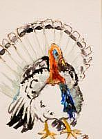 Art: Thanksgiving Aceo by Artist Delilah Smith