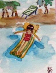 Art: Beach Float by Artist Delilah Smith