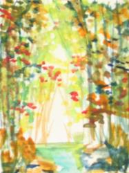 Art: Fall, SOLD by Artist Delilah Smith
