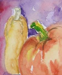 Art: Pumpkin and Squash by Artist Delilah Smith