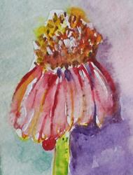 Art: Cone Flower by Artist Delilah Smith